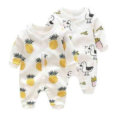 球大大~嬰兒連身衣服男寶寶夏裝4秋冬季5新生兒2網紅可愛0歲3個月1爬爬服