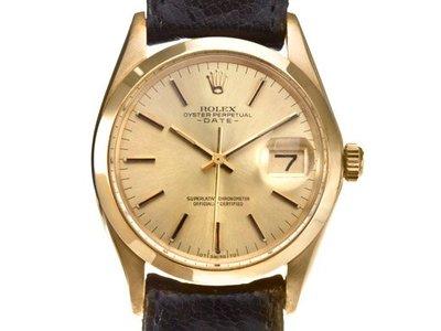Rolex勞力士1500蠔式恒動日誌型18K金腕錶