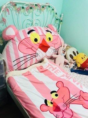 頑皮豹卡通粉紅豹可愛大靠背榻榻米軟包公主臥室學生宿舍床頭靠墊可拆洗龍貓