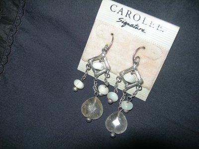 美國品牌CAROLEE耳環,原價三千多~1元起標!