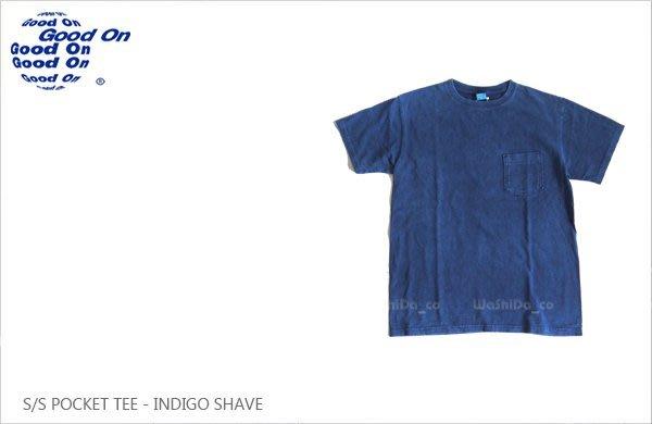 WaShiDa【GOST0903IS】Good On 日本品牌 藍染 色落 美國棉 口袋 素面 短袖 T恤