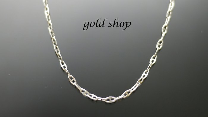 gold 義大利 585 白K金 項鍊 長40公分[ kn 006 ]