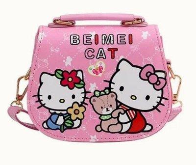 女童包 時尚公主斜挎包 可愛單肩包 女童手提包 時尚女童包 kitty包