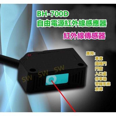 紅外線感應器 BH-700D 反射式 自由電壓 車庫/鐵捲門/門窗/入口處/停車場/警報系統/倉庫 快速捲門 伸縮門