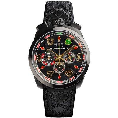 BOMBERG 炸彈錶 機械錶 手錶 45mm 拉斯維加斯限定 限量777支 賭場賭盤 BOLT-68 瑞士製 男錶