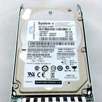 5Cgo【權宇】IBM 42D0637/42D0638 300GB 10K SAS 2.5吋硬碟含RAY x3400M3