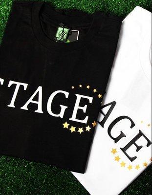小豬 羅志祥 STAGE 8/15 STAGE XXX STAR TEE 白色/黑色 全新真品
