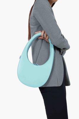 【折扣預購】巴黎設計師品牌COPERNI Swipe Bag淺藍色皮革 蛋殼包 鵝蛋包 手提包 肩背包