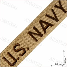 【ARMYGO】美軍軍種布條-US. NAVY (沙色)