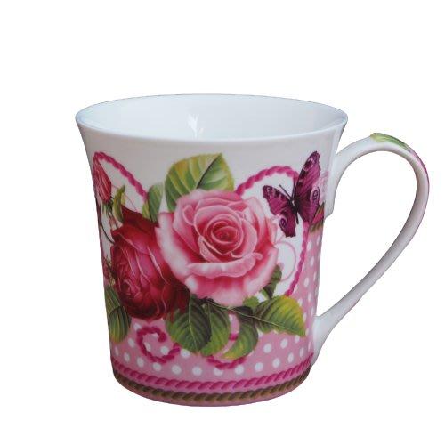 現貨/英式玫瑰花園骨瓷馬克杯 骨瓷杯 花茶杯 馬克杯 鄉村風餐具 陶瓷馬克杯