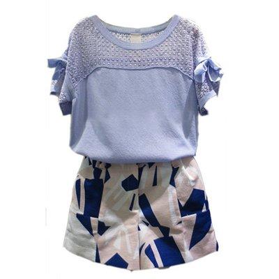2018夏季新款加肥加大碼女裝胖mm寬鬆短袖t卹短褲兩件套裝 預購款