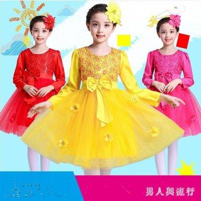 中大尺碼花童禮服  兒童公主裙演出服蓬蓬舞蹈紗裙小學生元旦跳舞表演服裝 DR9427