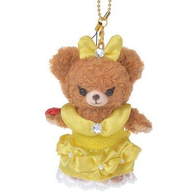 (預購)保證真品 日本空運 東京迪士尼 大學熊Uni BEAR sity x 美女與野獸貝兒公主絨毛娃娃吊飾