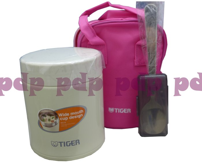 ~TIGER虎牌 ~不鏽鋼真空保溫悶燒湯杯0.50L(MCJ-A050)粉/白色