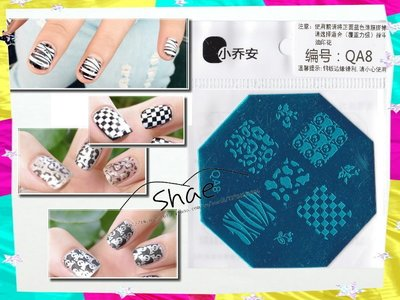 指甲彩繪轉印鋼板100款 買5送印章刮板 QA重複使用貼花 DIY彩繪 搭配指甲彩繪貼紙 OPI指甲油
