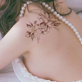 【萌古屋】線條花朵胸背腰 - 男女防水紋身貼紙微刺青貼紙SY-B113 K29