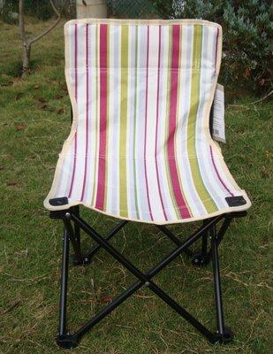 大營家購物網~6501 探險家條紋迷你椅 ~輕便 收納方便椅背有置物網