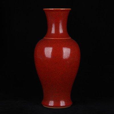 ㊣三顧茅廬㊣  大清康熙年制款美人醉釉魚尾瓶   古瓷器古玩古董收藏品擺件