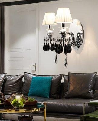 Bedroom 單頭 後現代 水晶 壁燈 客廳 臥室 餐廳 玄關 藝術 創意 設計師 床頭 壁燈 E14 110V~220V