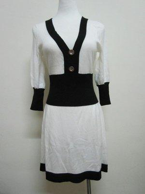 專櫃正品 OZOC黑白連身氣質針織衫 類似H&M,Salad,forever21,zara,mango