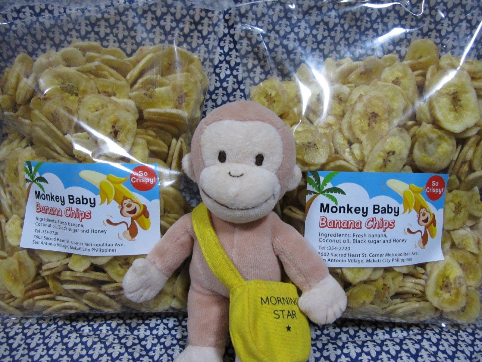 猴子香蕉脆片Monkey baby Banana Chips x 2包