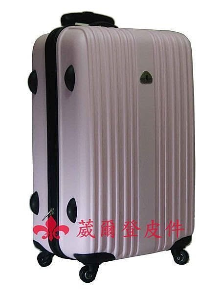 【葳爾登】21吋Bear Box輕硬殼旅行箱防水360度行李箱耐用超輕耐操登機箱bb直紋21吋粉紅色
