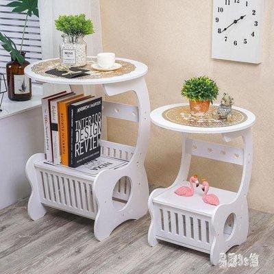 現代簡約北歐式床頭柜臥室小圓桌客廳茶幾多功能小圓桌 CJ706