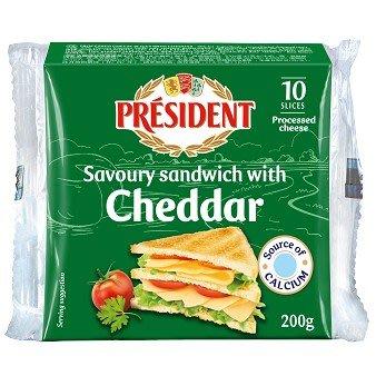 三明治切片 愛曼達 乳酪 乾酪 法國 總統牌 200g *水蘋果*O-084