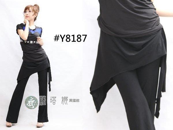@~薩瓦拉 : M~XL_Y8187_黑色穿環_有裙不可拆蟑螂褲