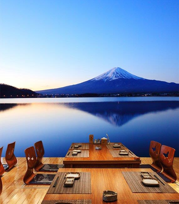 客製化壁貼 店面保障 編號F-712 富士山美景 壁紙 牆貼 牆紙 壁畫 背景牆 星瑞 shing ruei