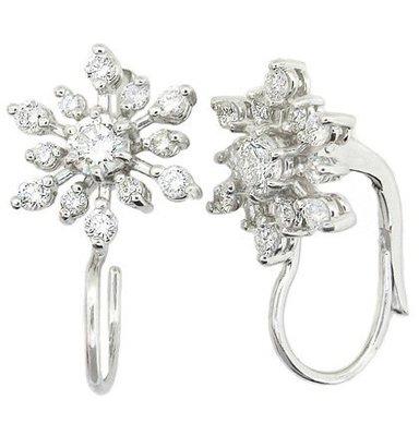 【JHT金宏總珠寶/GIA鑽石專賣】0.78ct天然鑽石耳環/材質:PT900/18K(JB41-D02)