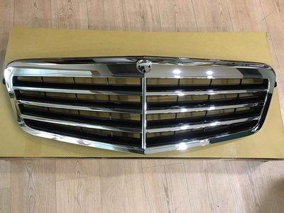 賓士BENZ W212 2010-2013年 E系列水箱護罩 水箱罩 水柵 總成  中網加外框 中網含框 無星 黑色