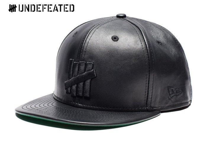 【超搶手】 全新正品 UNDEFEATED x NEW ERA 5 STRIKE LEATHER CAP 皮革全封棒球帽