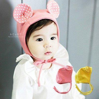 【可愛村】 小老鼠造型保暖帽 兒童帽 綁帶帽