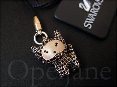 情人節送禮 真品 SWAROVSKI 施華洛世奇限量版黑水晶貓咪手機吊飾 免運費 愛Coach包包