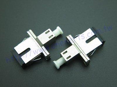 萬赫LC母 轉SC母 光纖双接頭 LC-SC SC-LC PC 雙接頭 SM/MM單芯單模多模光纖 適配器 耦合器 光纖