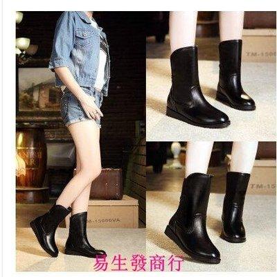 【易生發商行】防水防滑 明星同款雪地靴女冬季女靴棉靴潮平底加絨女士短靴F6228