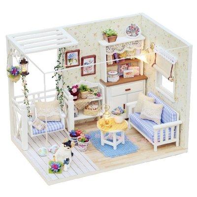 【酷正3C】H013小貓日記→聖誕優惠DIY小屋 袖珍屋 娃娃屋 模型屋 材料包 玩具娃娃住屋 手做工藝 拼裝房子禮物