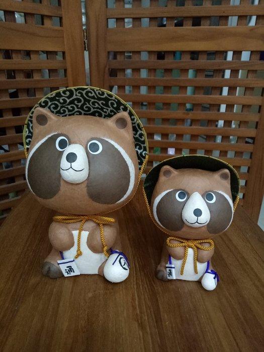 天使熊雜貨小舖~日本帶回和紙多良福狸擺飾 (大) 全新現貨