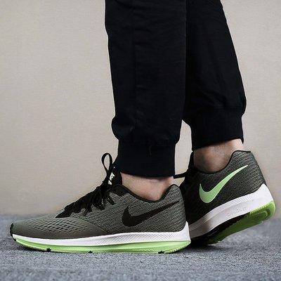 【Cool Shop】Nike Zoom Winflo 4 綠灰 輕量透氣 休閒運動鞋 訓練 男鞋 898466-011