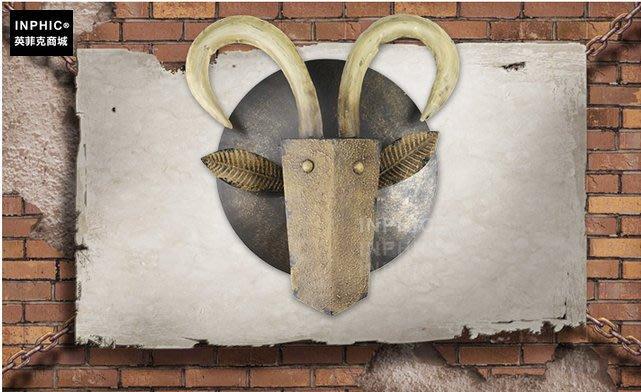 INPHIC-歐式創意動物壁飾壁掛咖啡廳鐵藝工業風裝飾_S01902C