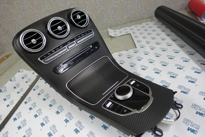 Mercedes-Benz W205 內裝貼膜 卡夢內裝 內裝犀牛皮 內飾板貼膜 中控貼膜 C200 C250 C300