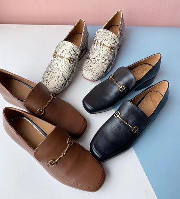DANDT 時尚牛皮金屬釦飾粗跟樂福鞋(20 AUG 8760323)同風格請在賣場搜尋 TUB 或 外銷女鞋