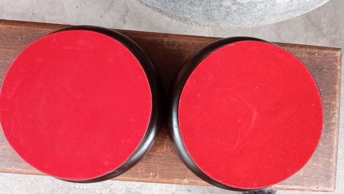*阿柱的店*13公分 紅色絨布轉盤 藝品枱座 2個合售