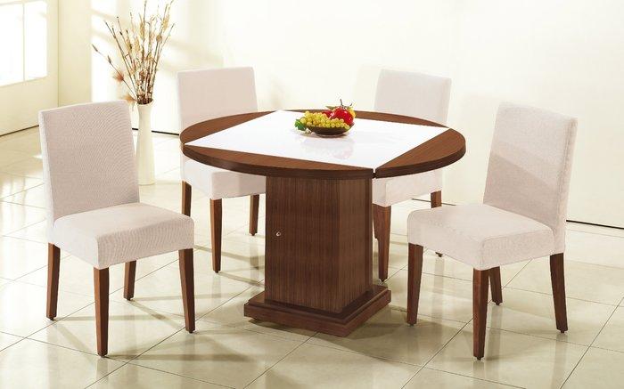 FA-442-1馬吉胡桃原石方型四垂餐桌/大台北區/衣櫃/系統家具/沙發/床墊/茶几/高低櫃/1元起/最低價/高品質