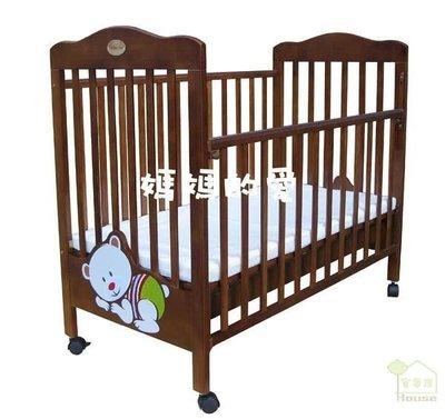[ 家事達 ] 台灣KC- Mother's Love  寶貝熊抽屜嬰兒床-大床+KC010方格小熊七件式純棉被組L 特價