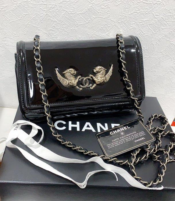 小巴黎二手名牌 Chanel 獅子logo coco25公分 有卡