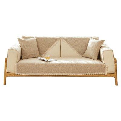 @家具坊 新款沙發墊四季通用布藝棉麻防滑坐墊新中式高檔實木沙發套罩靠背亞麻