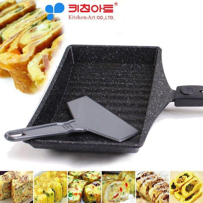 韓國原裝 玉子燒雞蛋卷不沾鍋 (附玉子燒鏟)
