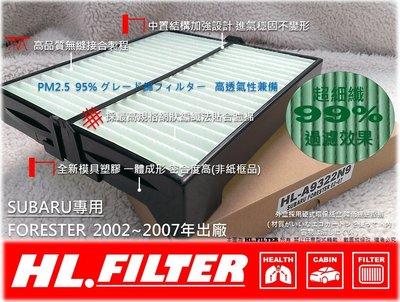 【HL】SUBARU FORESTER 03~07 森林人 原廠型 超細纖 冷氣濾網 空氣濾網 冷氣芯 非 3M 活性碳